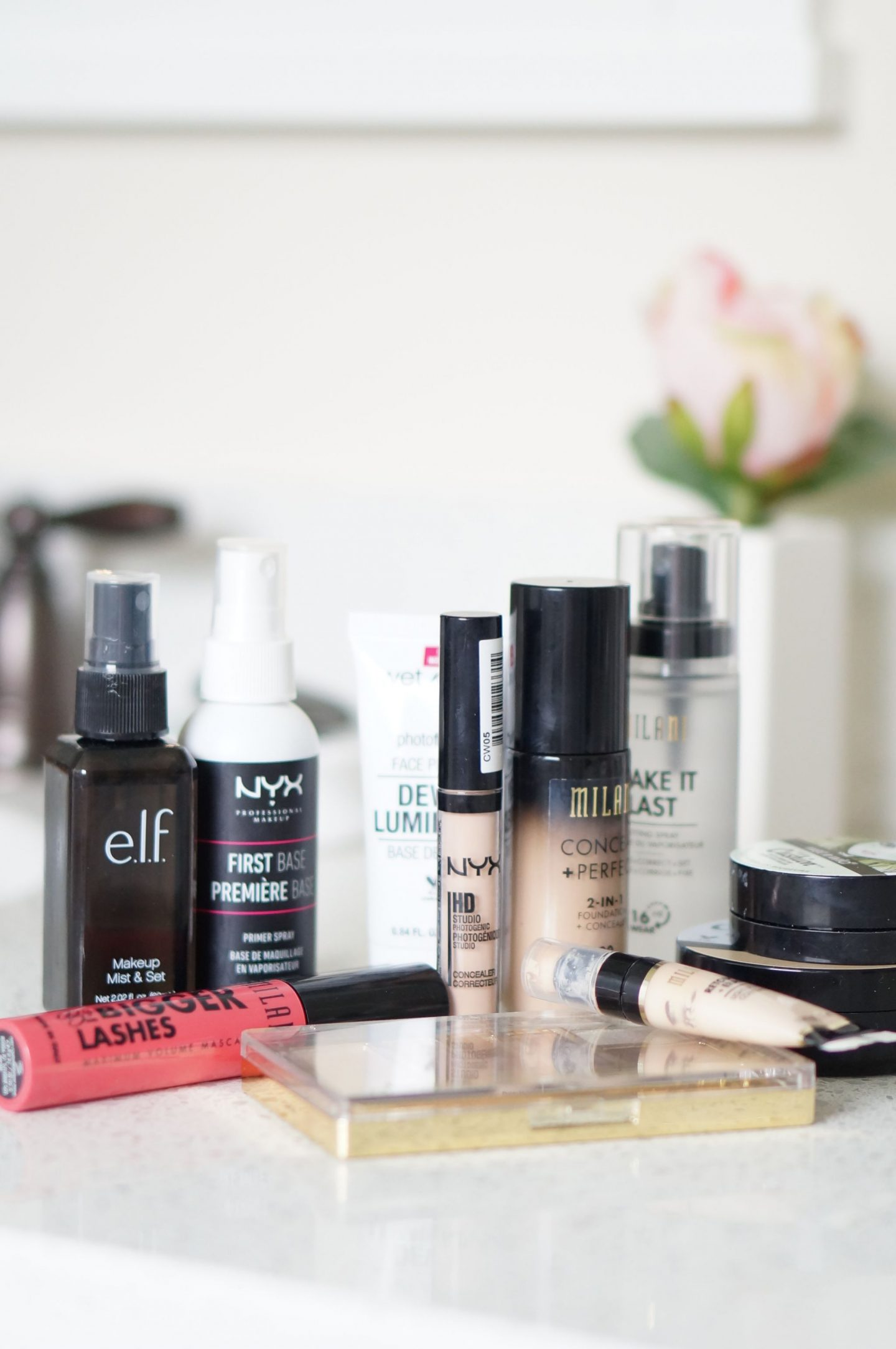 Popular North Carolina style blogger Rebecca Lately shares her favorite drugstore makeup brands. Click here for affordable makeup options!