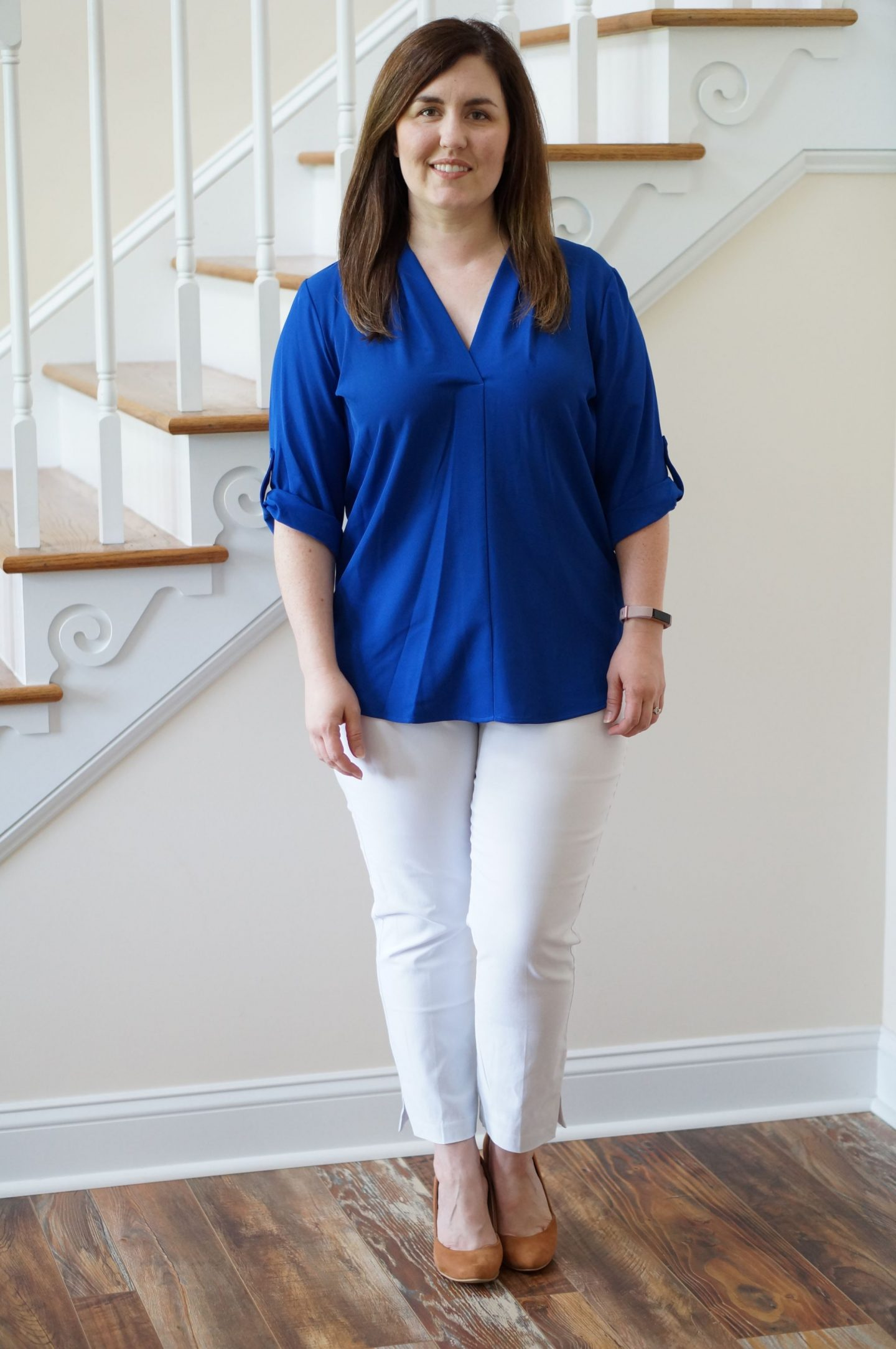 Popular North Carolina style blogger Rebecca Lately shares her August 2018 Stitch Fix outfits.  Check out what she kept and what she sent back!
