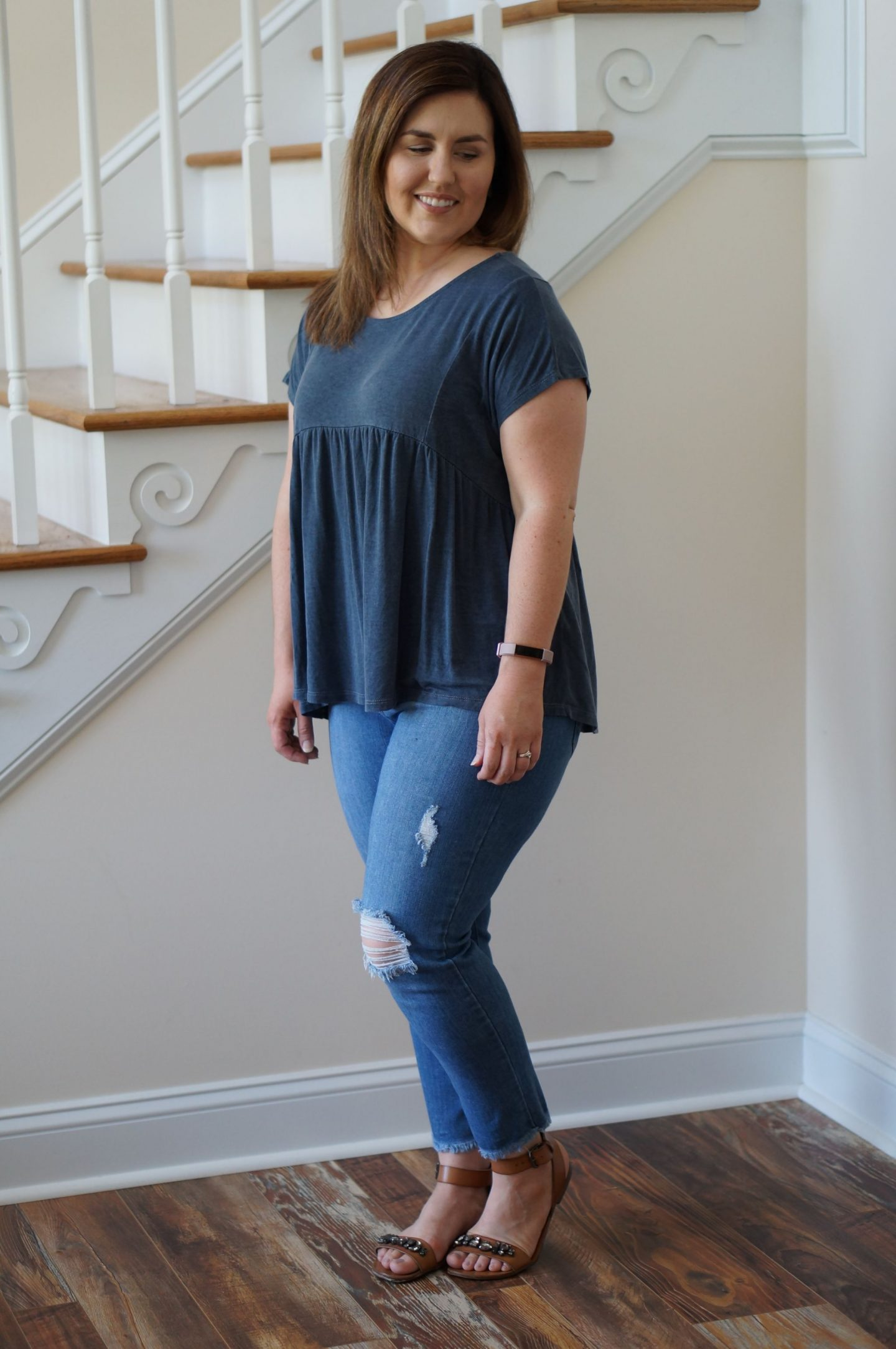 If you've ever wondered what to do with your purchases from Stitch Fix, here is one outfit inspiration for the weekend! Just USA Denim jeans are so comfy!