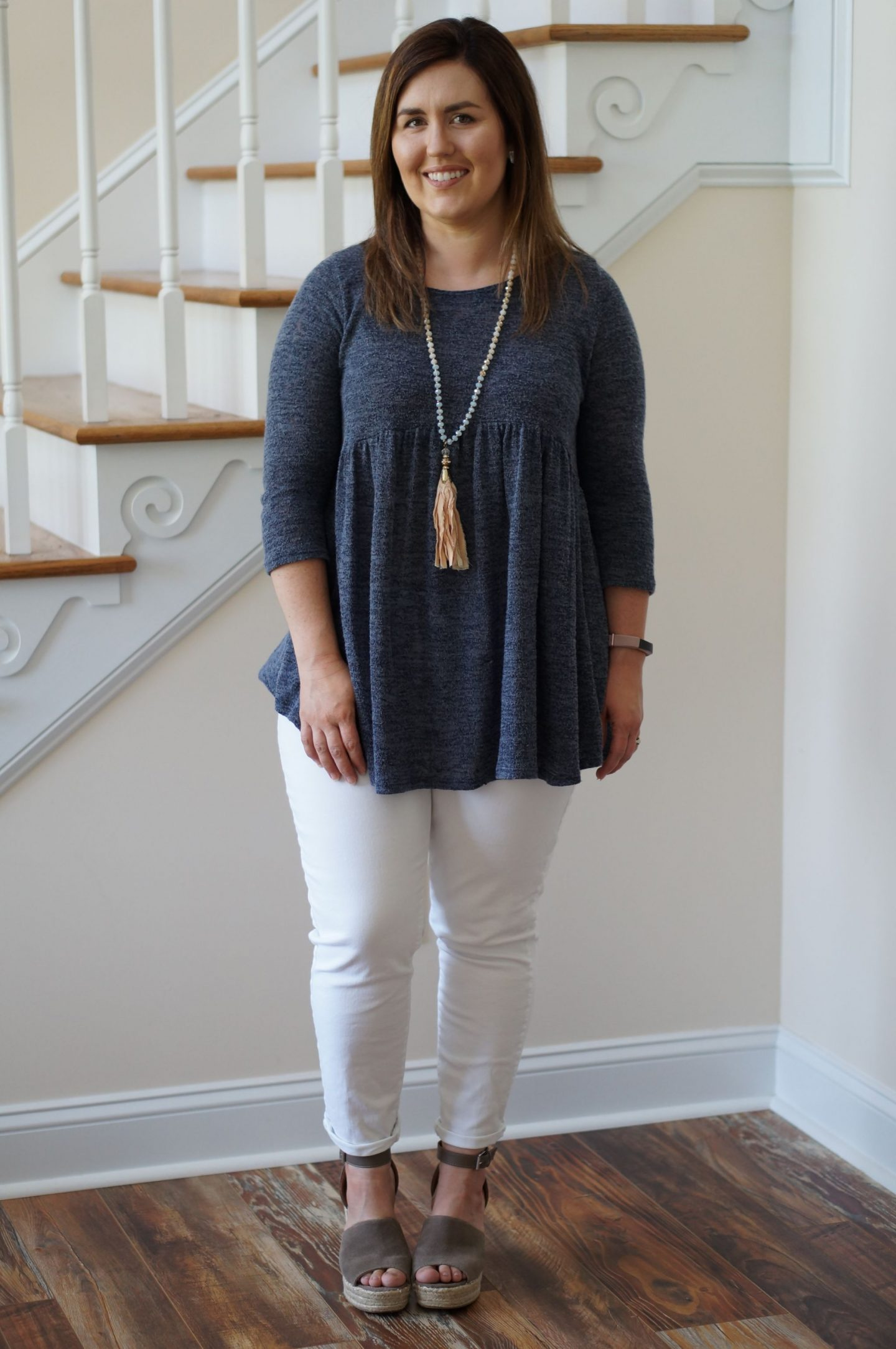 Finding the perfect transition outfit doesn't have to be hard. Today, I combined a few of my favorite pieces from each season and voila! I love this outfit!