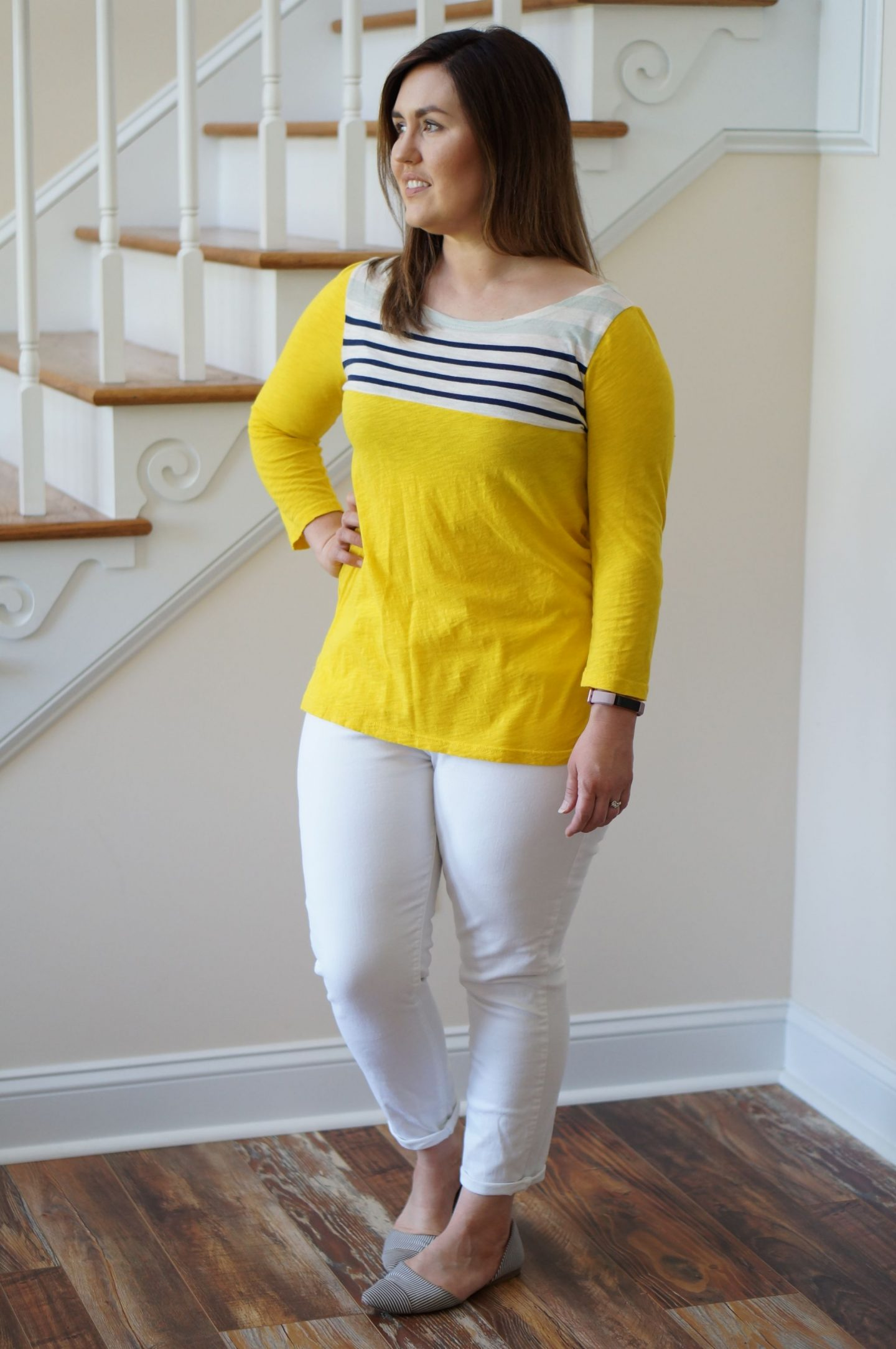 Rebecca Lately shares her Madewell top that's made it through all her wardrobe purges over the year.  You just can't go wrong with yellow!