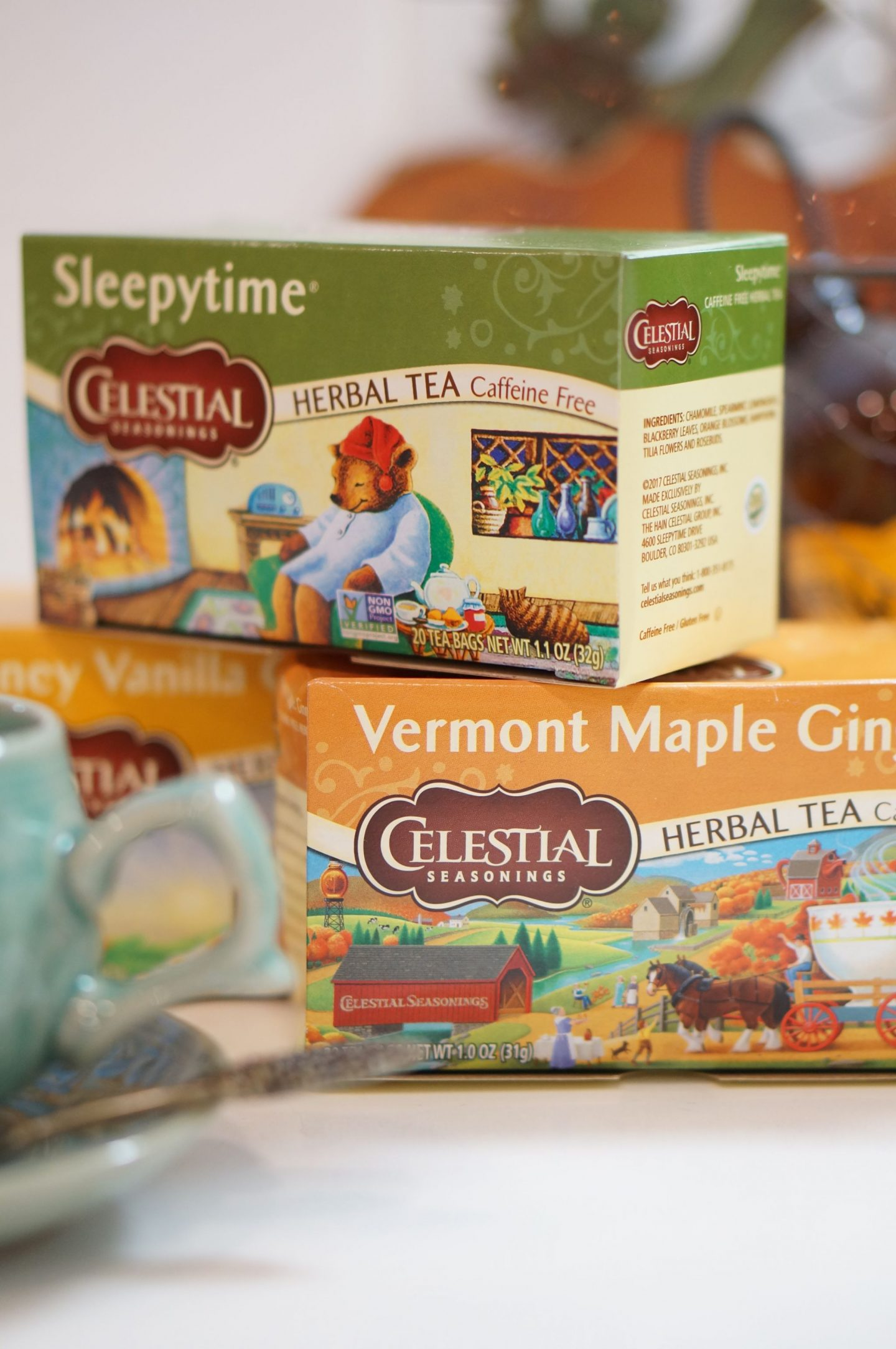 Popular North Carolina blogger Rebecca Lately shares her favorite seasonal flavors from Celestial Seasonings Tea. Clck here to read more about her faves!