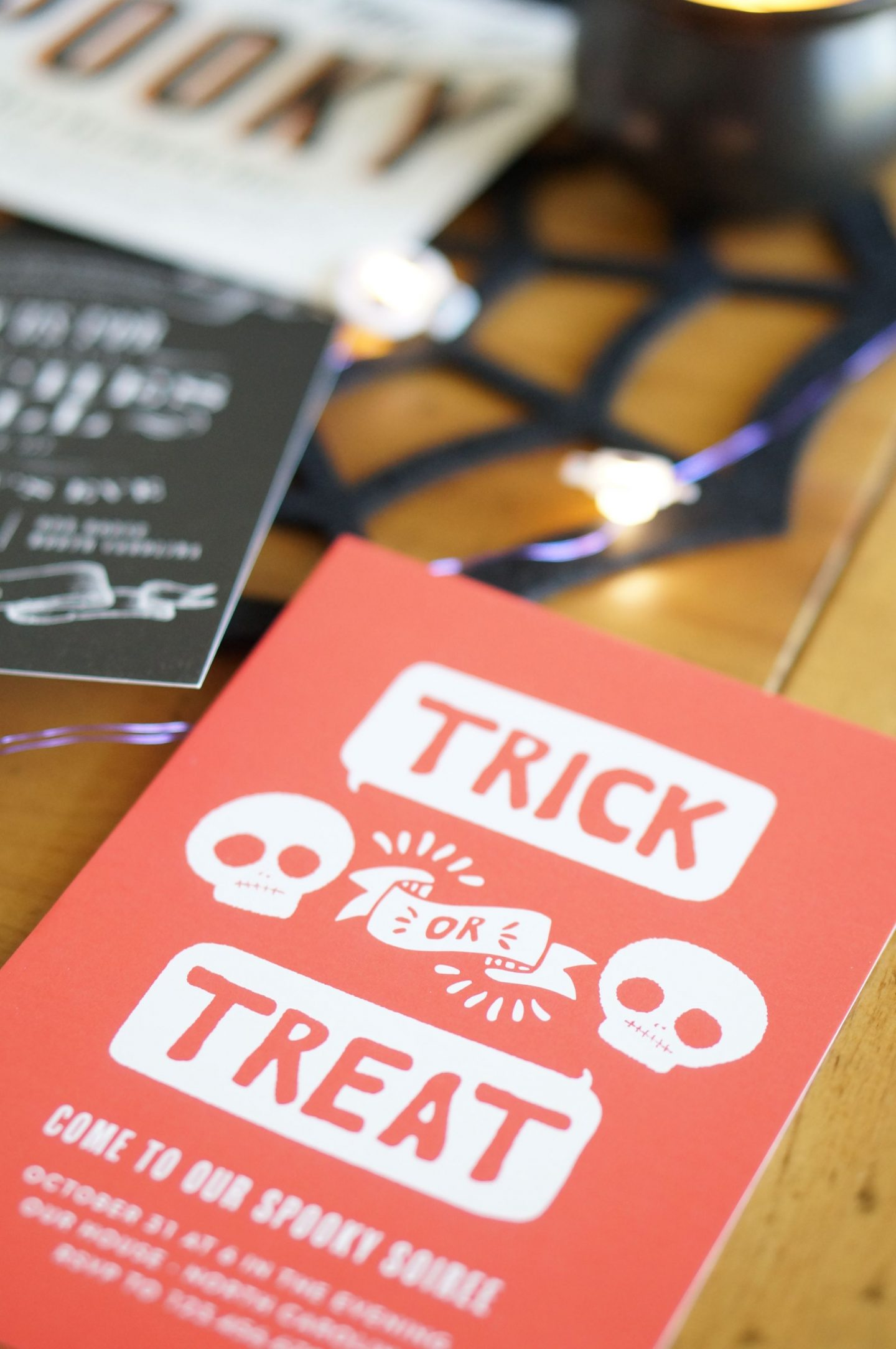 Popular North Carolina style blogger shares her halloween party invitations with Basic Invite. Check out the invites for her pumpkin carving party!