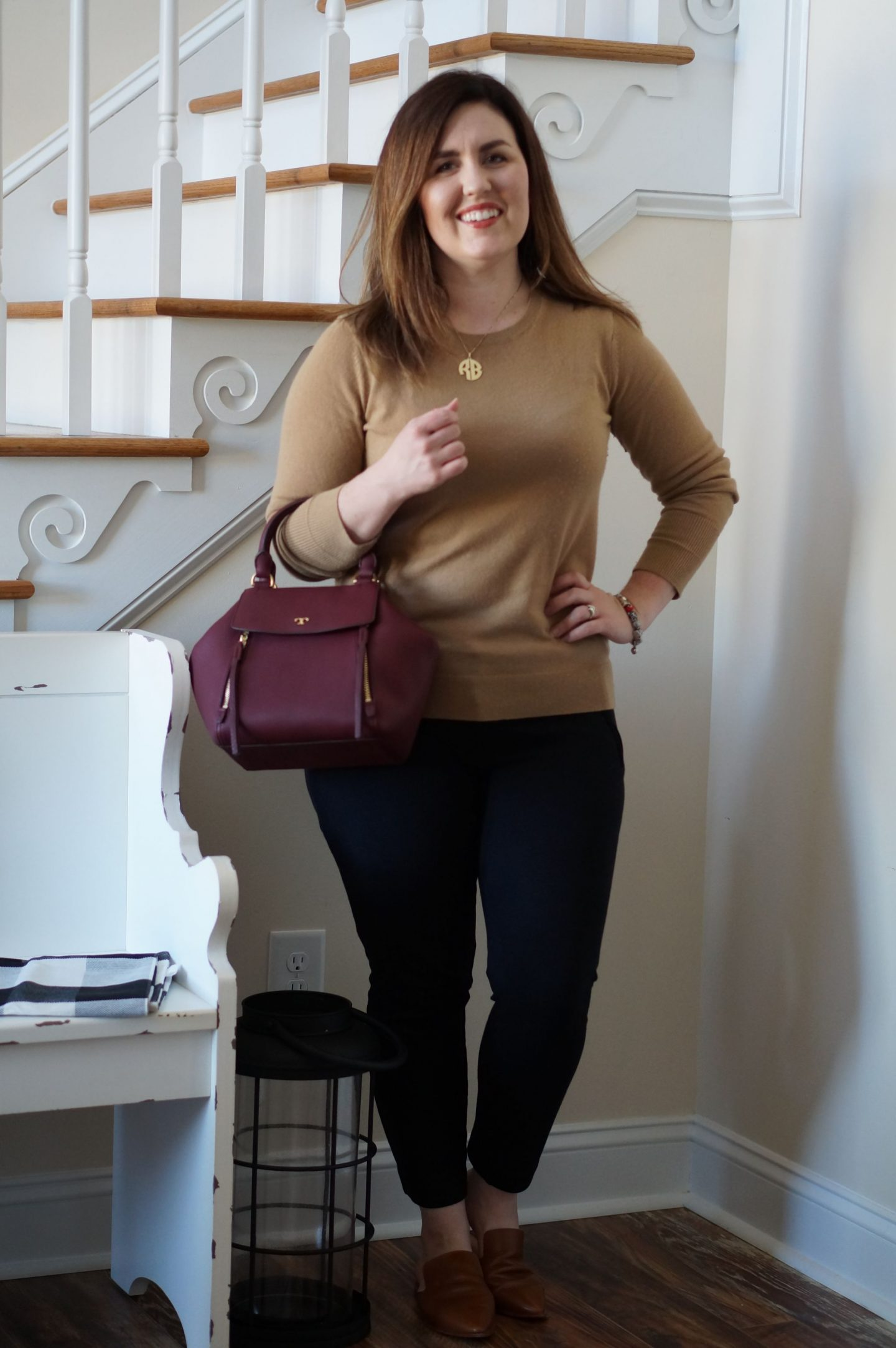 North Carolina style blogger Rebecca Lately shares the latest addition to her Everlane cashmere sweater collection. In today's post, she styles it for work.