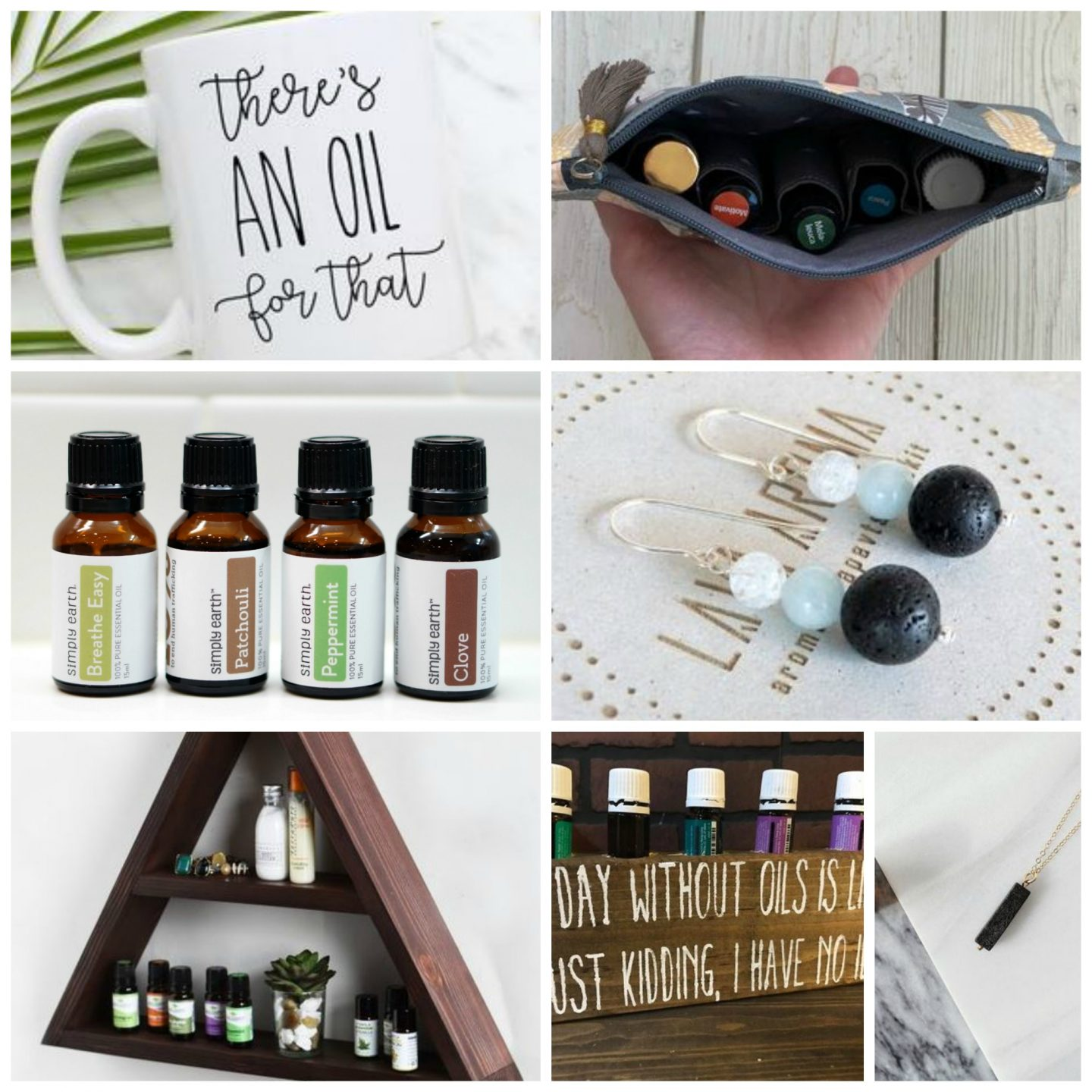 NC blogger Rebecca Lately shares her gift guide for the essential oil lover.  From a Simply Earth subscription to a case, there's a little bit of everything!