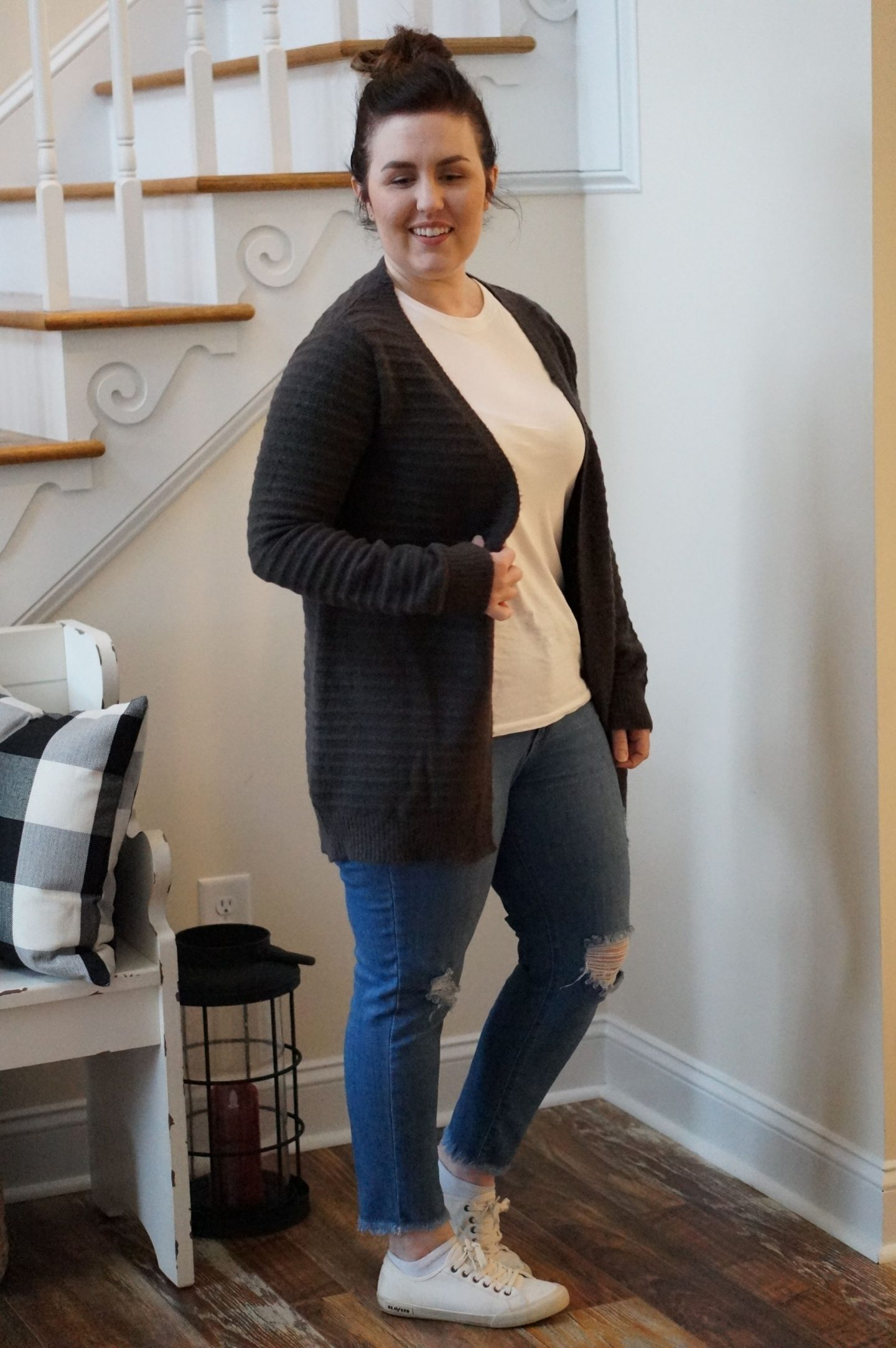 North Carolina blogger Rebecca lately shares her Stitch Fix January 2019 outfits. Check out what she got, what she loved & what she ultimately sent back.