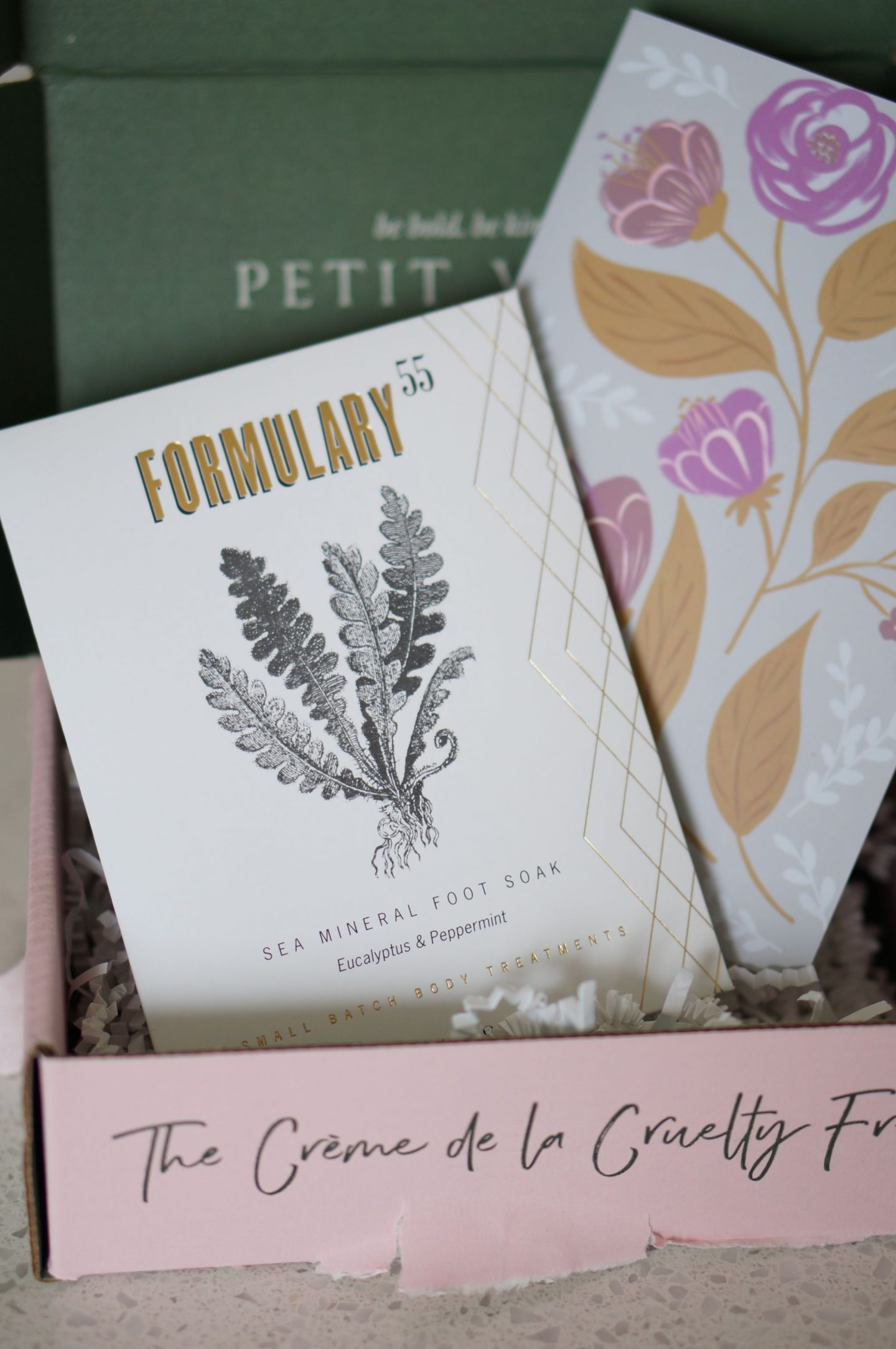 North Carolina style blogger Rebecca Lately shares her Petit Vour February 2019 box. If you are looking for natural and cruelty free recs, check this out!