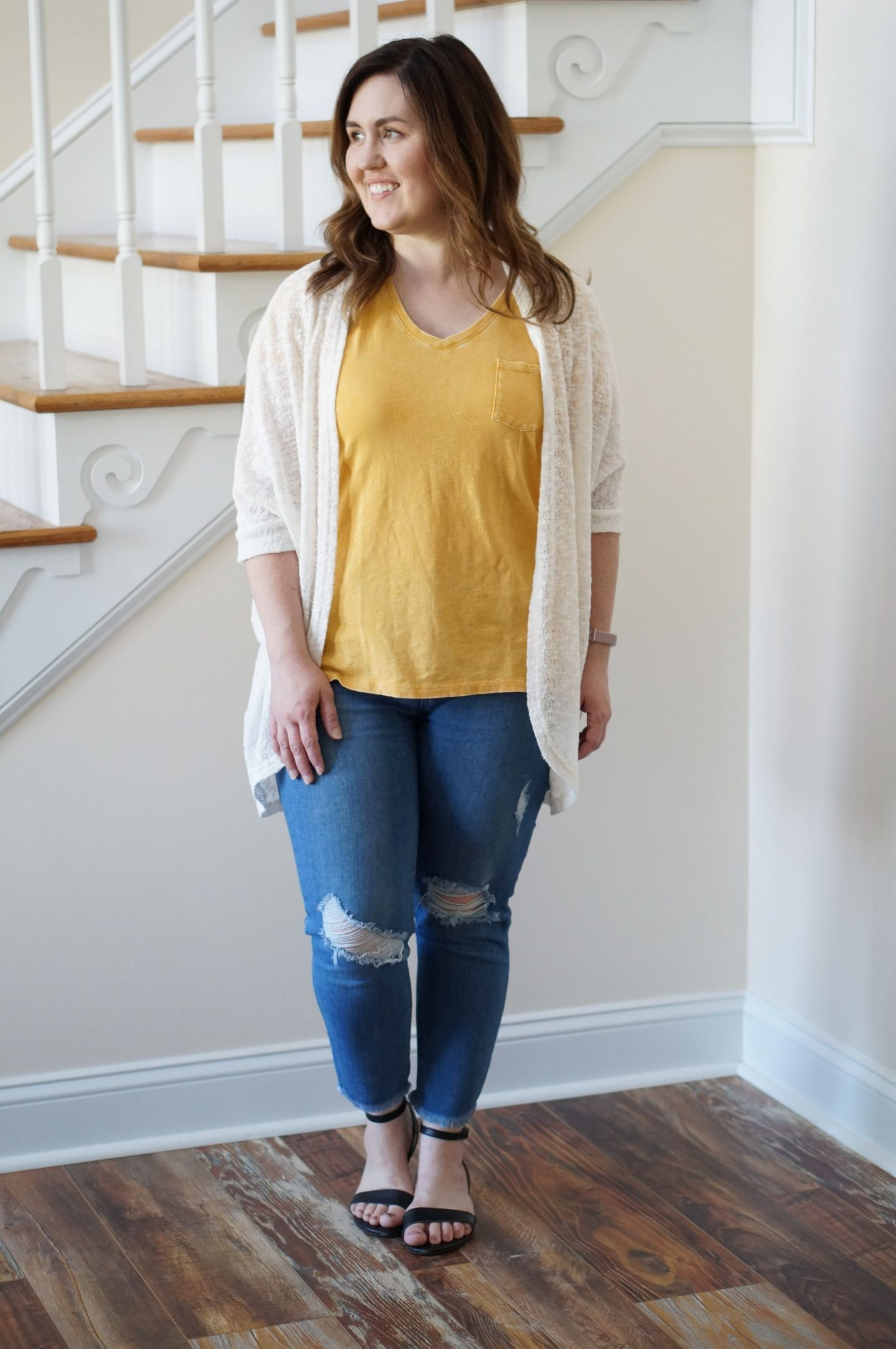 North Carolina blogger Rebecca Lately shares how to style ripped jeans for spring. If you don't like shorts, these ideas will inspire you!