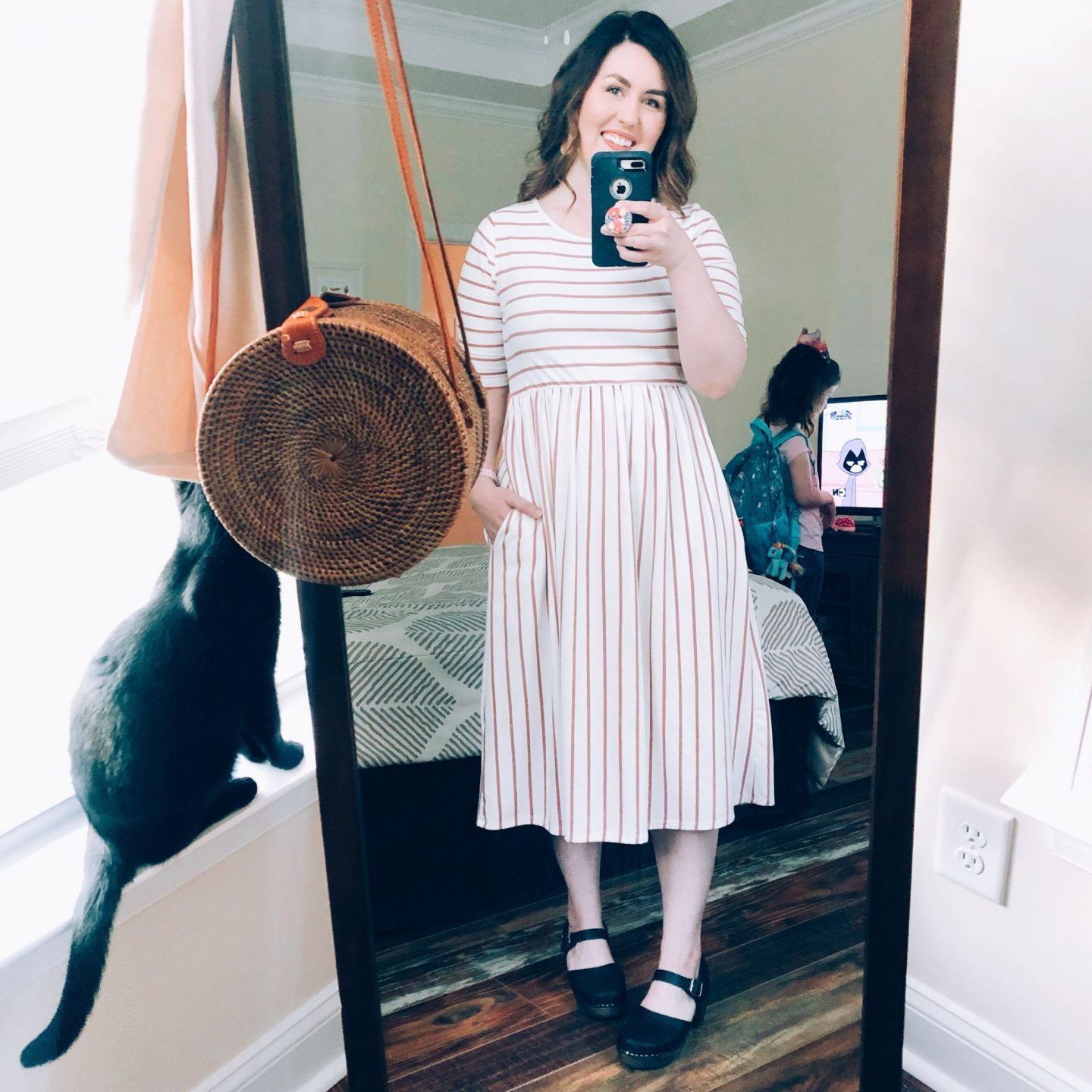 NC blogger Rebecca Lately shares three ways to style the ever popular Lotta From Stockholm clogs. She loves pairing them with work pants and dresses!