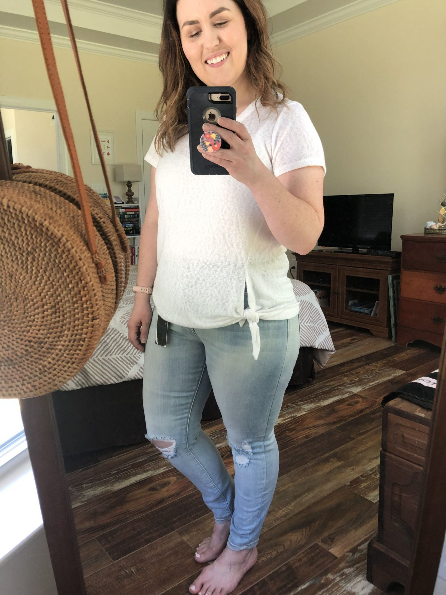 NC blogger Rebecca Lately shares her Stitch Fix Denim outfits. She requested a box of denim jeans & is sharing what she got, kept & sent back!
