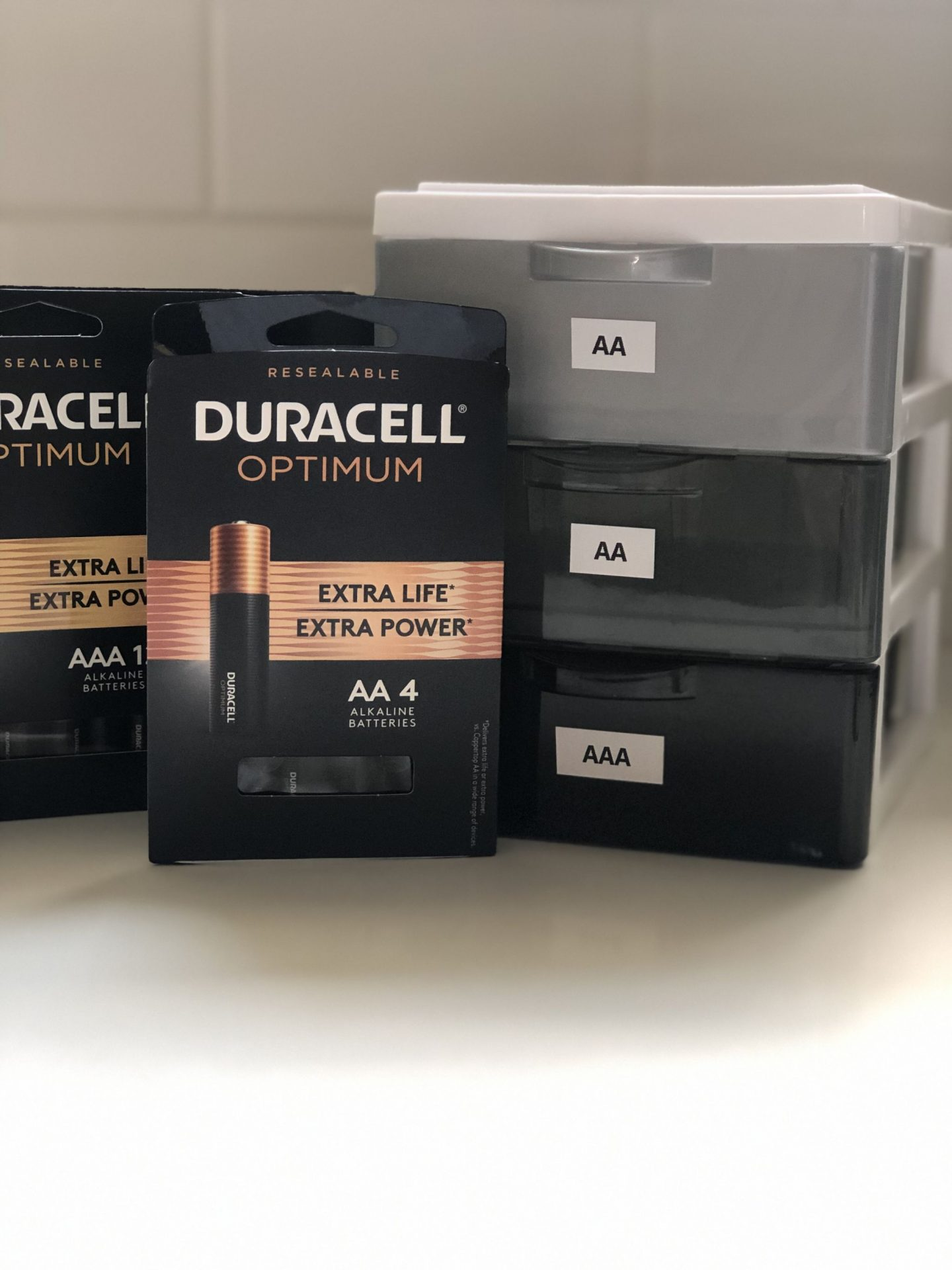 NC blogger Rebecca Lately shares a tip for battery organization with Duracell Optimum. She has a simple solution to keep all your batteries organized.