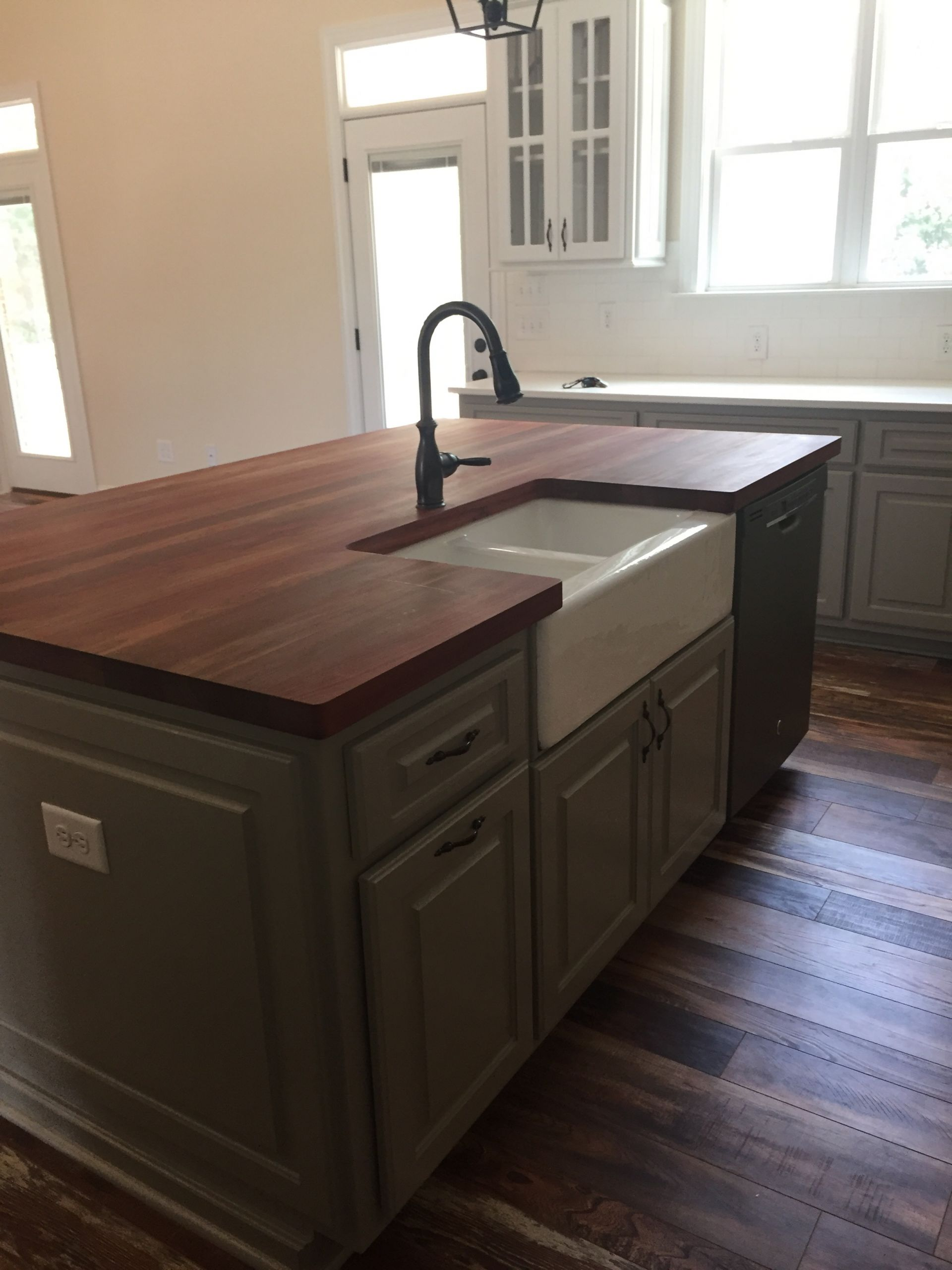 NC blogger Rebecca Lately shares an update on the butcher block island, along with a recommendationg for oiling it once a week.