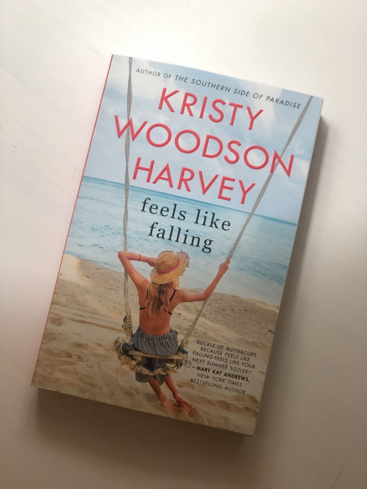 NC blogger Rebecca Lately shares her revivew of Feels Like Falling by Kristy Woodson Harvey. This is the perfect warm-weather read!