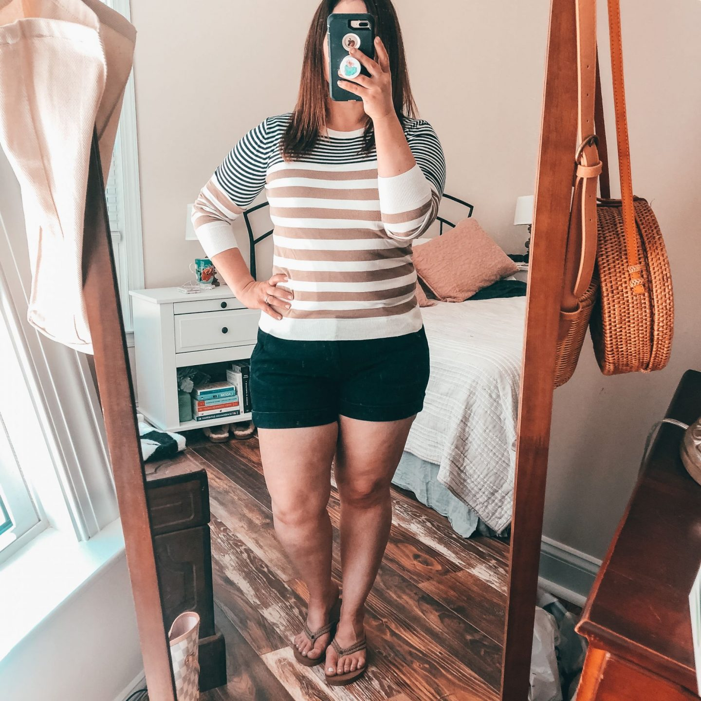 NC blogger Rebecca Lately shares her recent outfits for staying at home.  Easy, comfy outfits are perfect when you're working and learning at home.