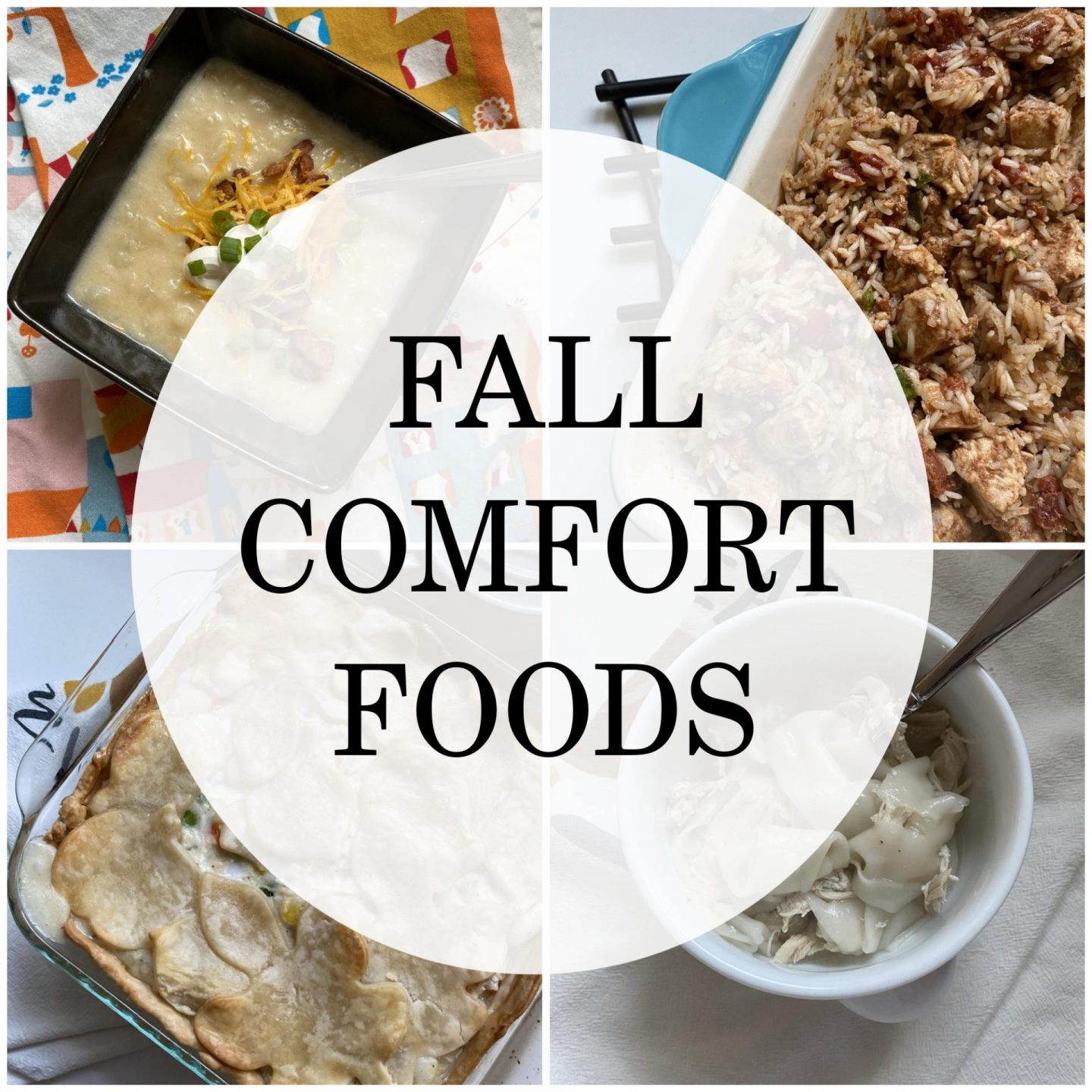 NC blogger Rebecca Lately is sharing four of her favorite fall comfort foods.  From casserole to pot pie, there's something for everyone!
