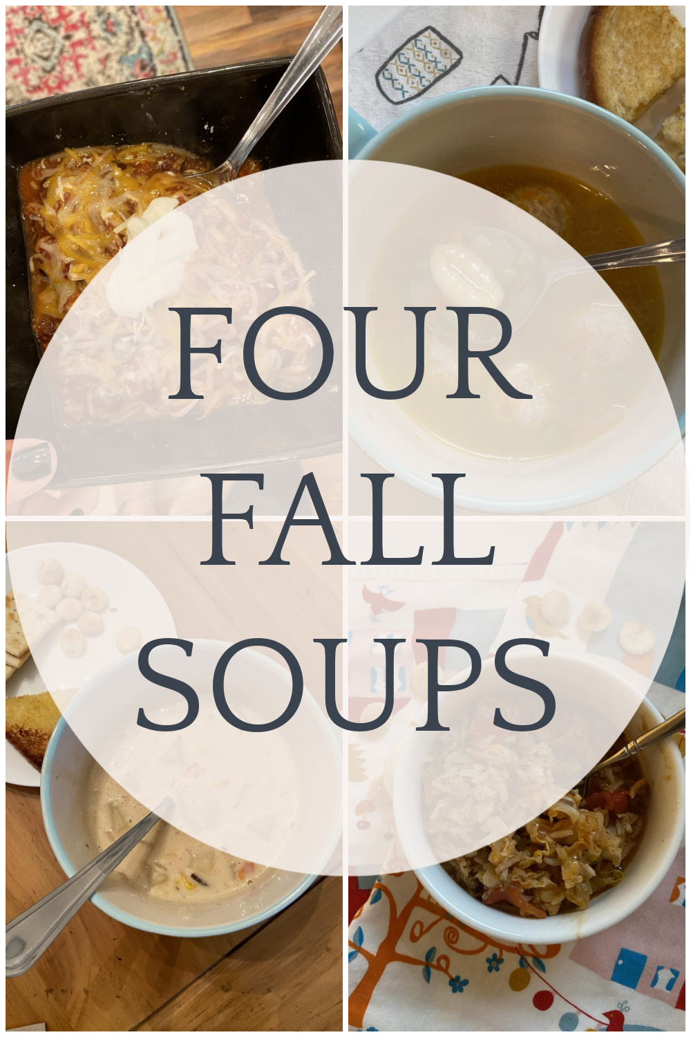 NC blogger Rebecca Lately is sharing four fall soups to try. If you love a cozy soup season, these soups are for you!