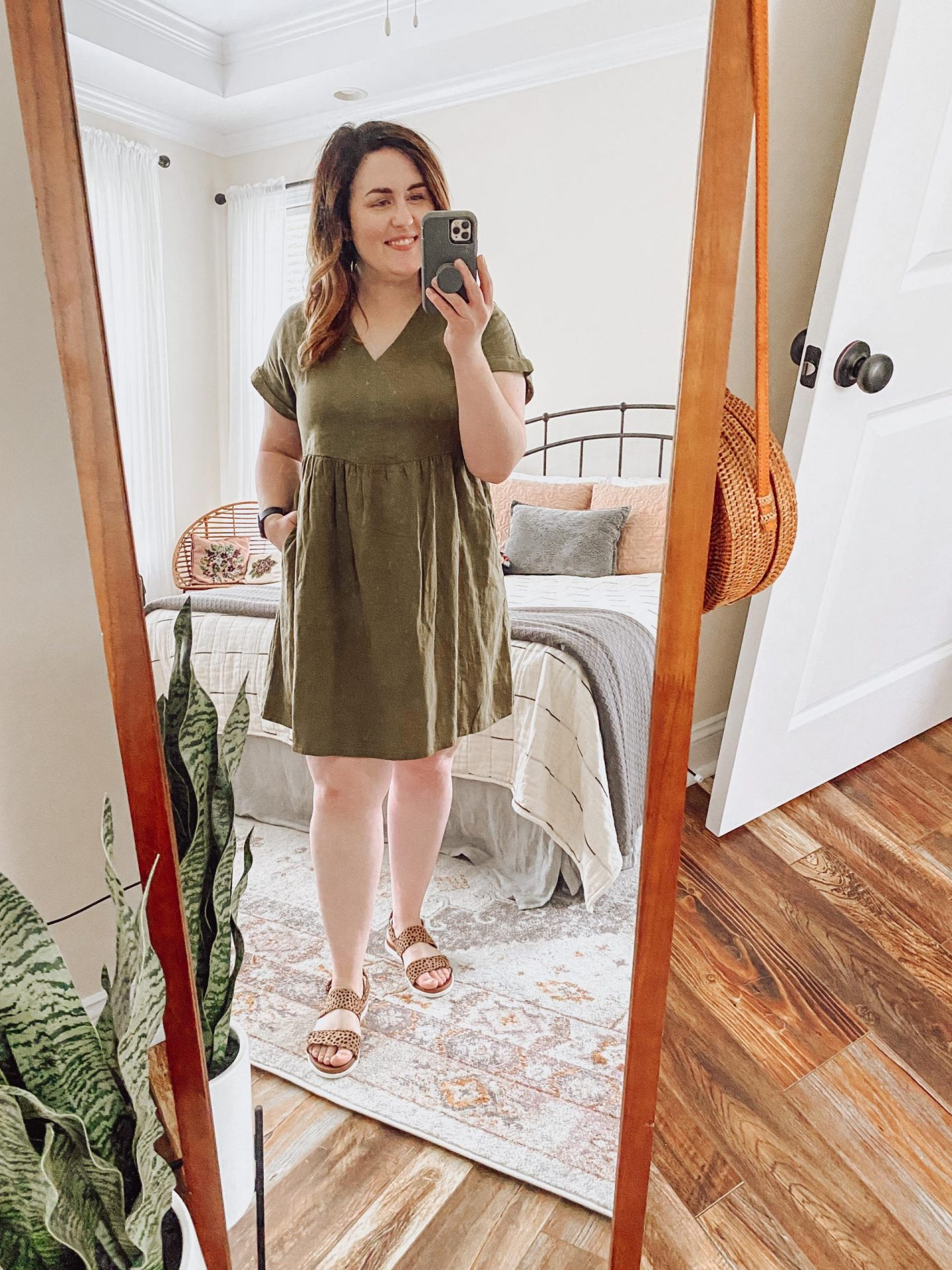 NC blogger Rebecca Lately is sharing how she styles olive green for summer. Check out three different ways to wear color!