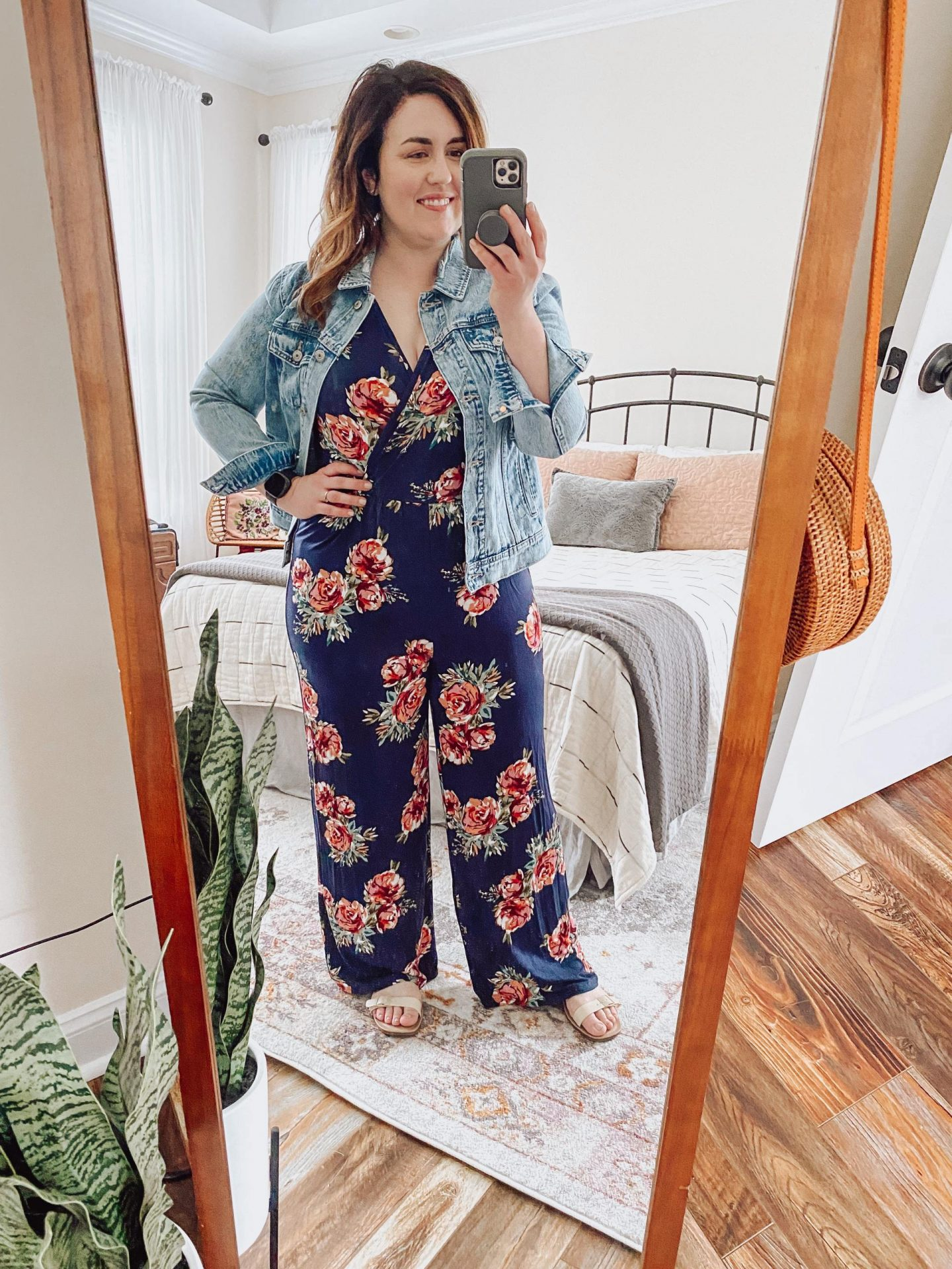 NC blogger Rebecca Lately is sharing how she styles a denim jacket for summer. From jeans to jumpsuit to dress, check out this inspo!