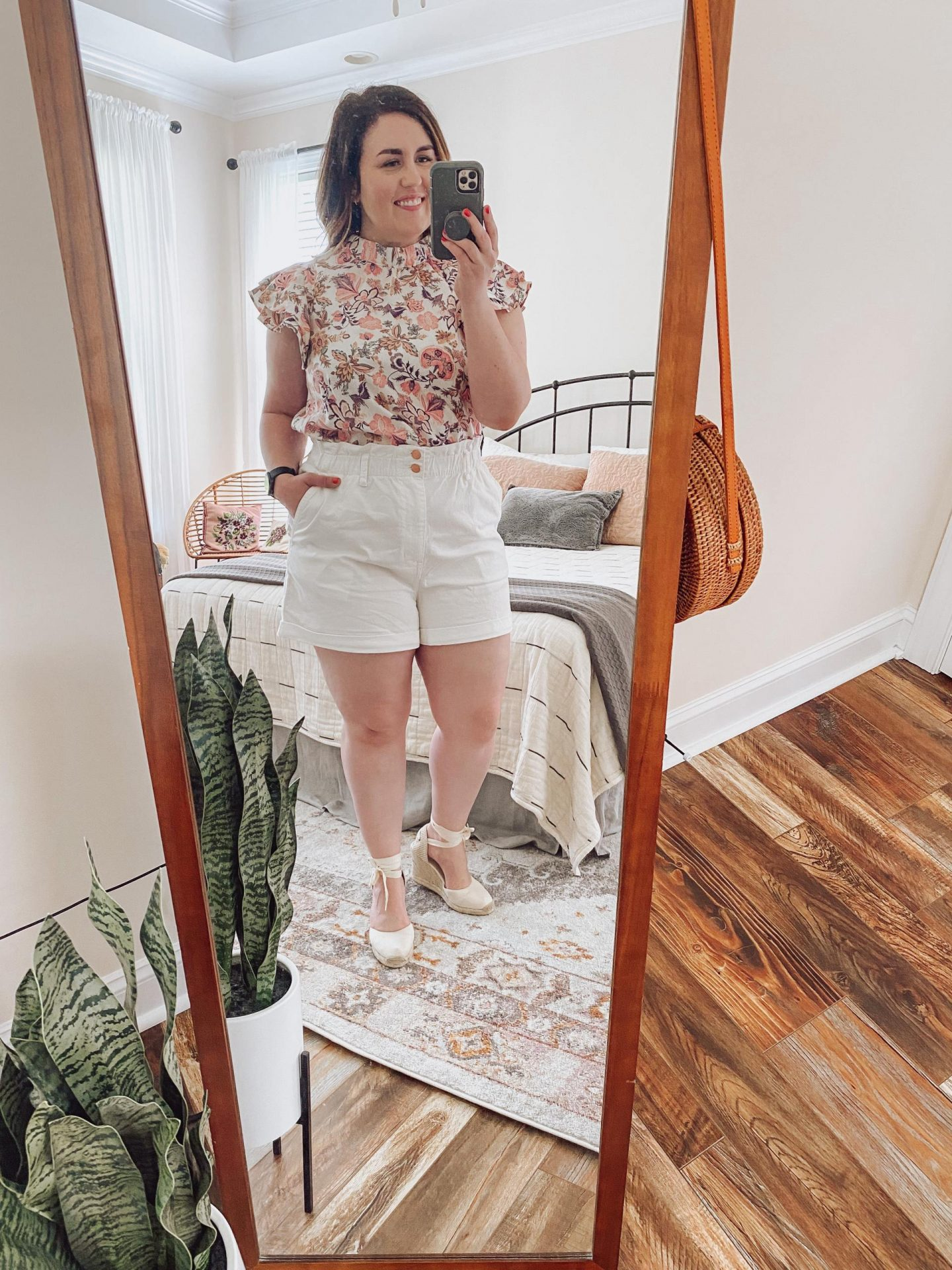 NC blogger Rebecca Lately is sharing how she's been styling white shorts for summer. If you need some summer inspiration, check this out!